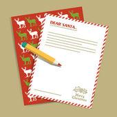 Christmas letter to Santa Claus. Vector illustration. — Vector de stock