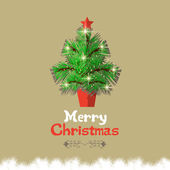 Christmas tree with calligraphic and typographic design — Stock Vector