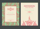 Invitation for celebration date — Stockvector