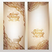 Holiday Background with doodle and text — Stock Vector