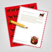 Christmas letter to Santa Claus. Vector illustration — Stock Vector