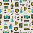 Seamless pattern with music equipment. — Stock Vector #64985895