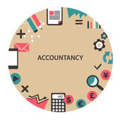 Accountancy emblem. — Stock Vector