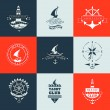 Set of yacht club logo collection. — Stock Vector #68969829