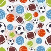 Seamless sports pattern. — Stock Vector