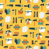 Seamless pattern working tools icons. Home repair. — Stock Vector