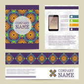 Set of Flyer design,  business templates. — Stock Vector