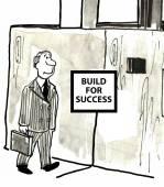 построить для успеха — Стоковое фото