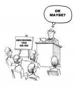 Decision Making Seminar — Stock Photo