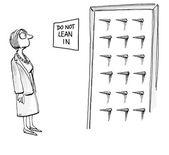 Do not lean in — Stock Vector