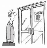 Doors do not open — Stock Vector