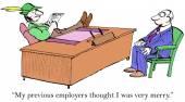 Requerente é feliz — Vetor de Stock