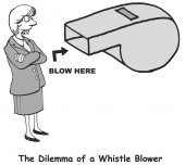 Whistle Blower — Stock Vector