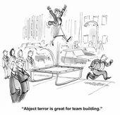 Abject terror — Stock Vector