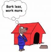 Bark less — Stock Vector