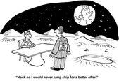 Jump ship — Stock Vector