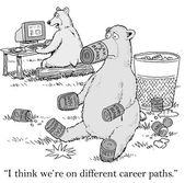 Bears are on different career paths — Stockvector