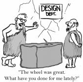 Cavemen need more than wheel — Stock Vector