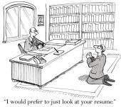 Job Interview — Stock Vector