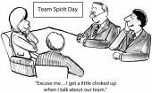 Team Spirit Day — Stock Vector
