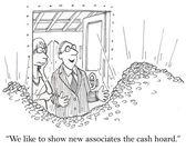 Cash hoard — Stock Vector