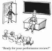 Surprise performance review — Stock Vector