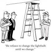 Worker wants change — Stock Vector