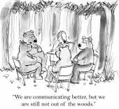 Bears are communicating better — Stock Vector
