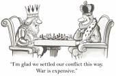 Kings do not like war — Stock Vector