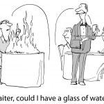 Customer needs water — Stock Vector #62762223