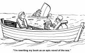 Technology ship sinking — Stock Vector