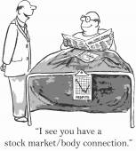 Stock market body connection — Stock Vector