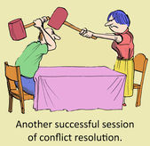 Successful conflict resolution — Stock Vector