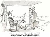 Can do attitude — Stock Vector