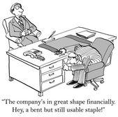 Company wants to save money — Stock Vector