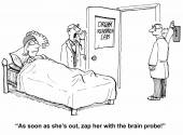 Worried woman is probed — Stock Vector