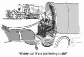 Jobs listing rush — Stock Vector