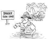 Slow sand — Stock Vector