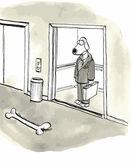 Dog sees a big bone — Stock Vector