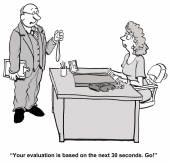 Rapid evaluation — Stock Vector