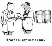 Copay for bagel — Stock Vector