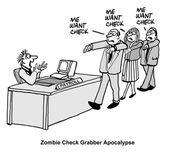 Zombie check grabber — Stock Vector