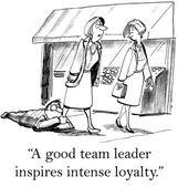 Team leader loyalty — Stock Vector