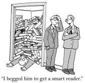 Slimme lezer — Stockvector
