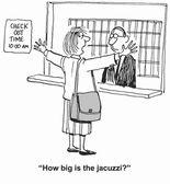 Woman executive wants hot tub — Stock Vector