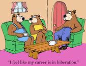 Woman bear career is in hibernation — Stock Vector