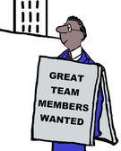 Diversity executive sign — Stock Vector