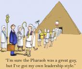 Executive is replacing Pharaoh — Stock Vector