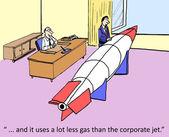 Rocket is better than jet — Stock Vector