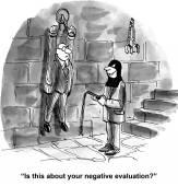 Negative evaluation — Stock Vector
